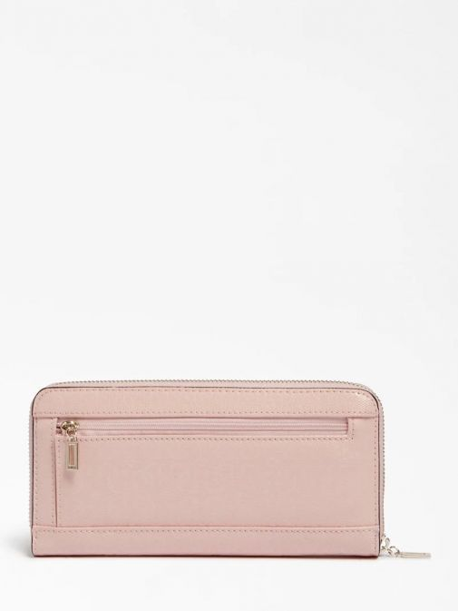 Back image of Guess Blane Logo Patent Maxi Wallet in Pink