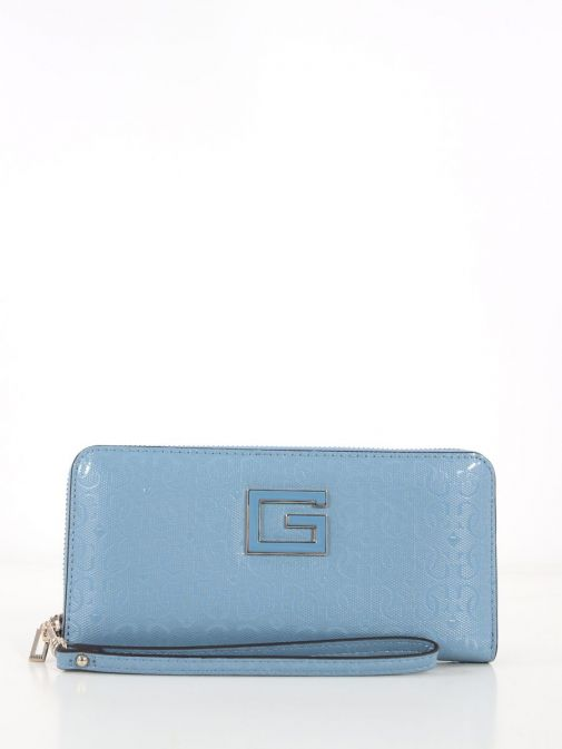 Front Image of Guess Blane Maxi Wallet Blue
