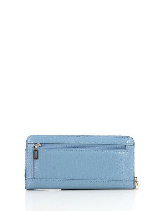 Back Image of Guess Blane Maxi Wallet Blue
