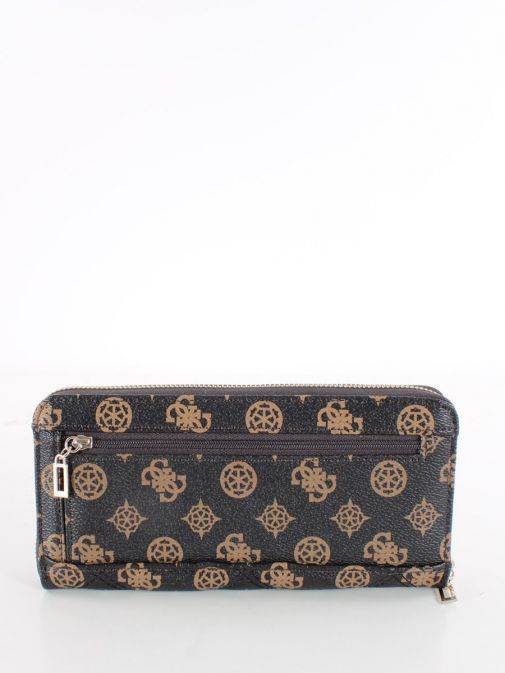 Back image of Guess Cessily Quilted Wallet in Brown