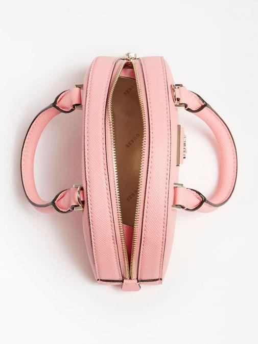 Aerial image of Guess Cordelia Saffiano Mini Handbag in Pink
