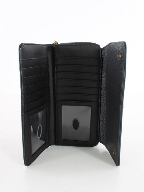 Inside image of Guess Dayane Maxi Wallet in Black