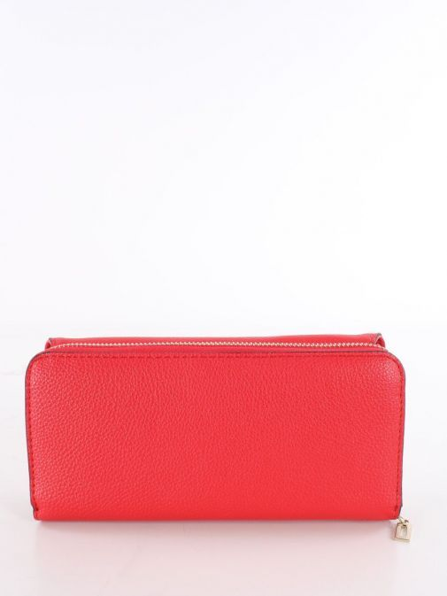 Back shot of Guess Dayane Maxi Wallet in Red