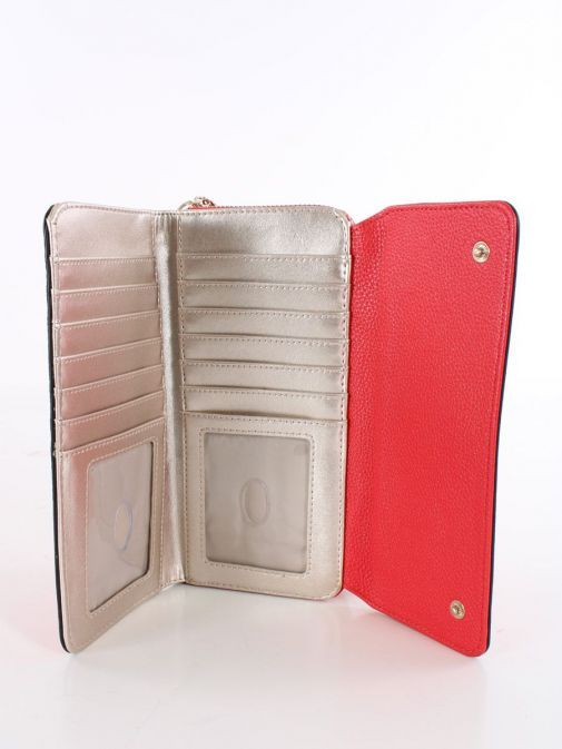 Inside shot of Guess Dayane Maxi Wallet in Red