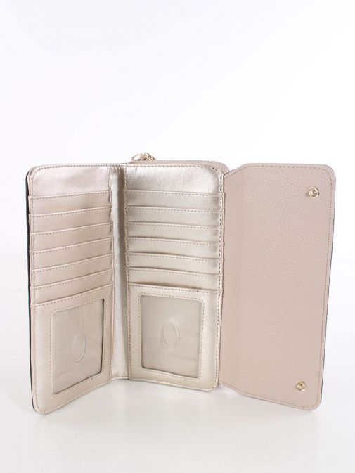 Inside image of Guess Dayane Maxi Wallet in Taupe