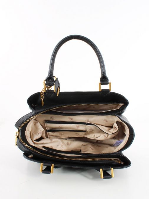 Image of inside of Guess Dayane Triple Compartment Handbag in Black
