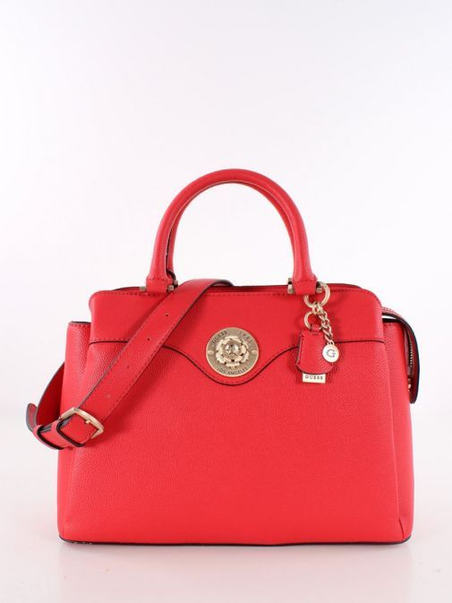 Front image of Guess Dayane Triple Compartment Handbag in Red