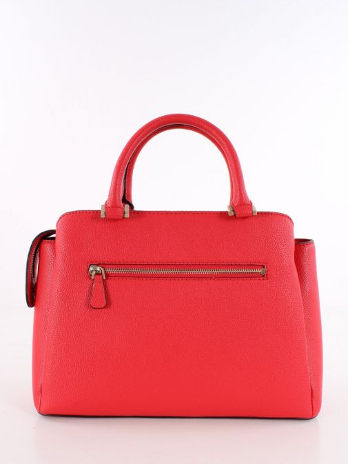 Back image of Guess Dayane Triple Compartment Handbag in Red