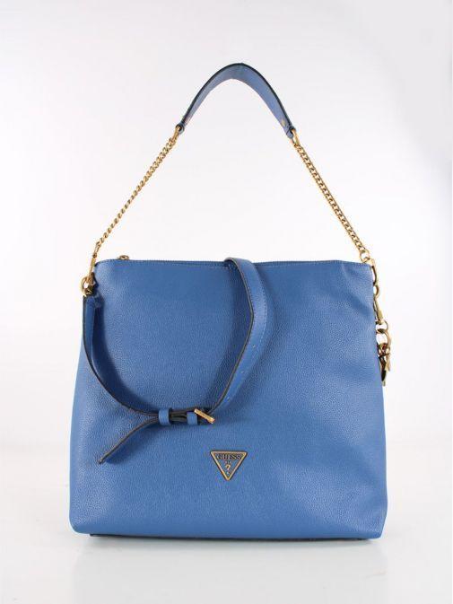 Back Shot of Guess Destiny Hobo Strap Shoulder Bag Blue