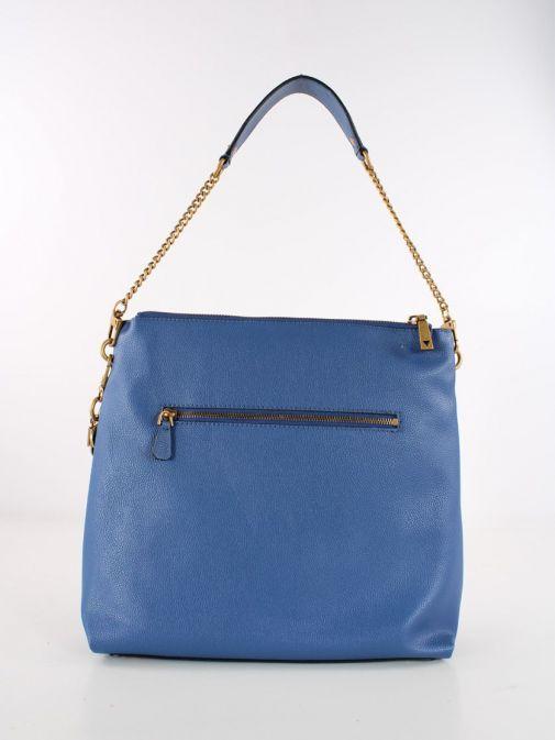 Front shot of Guess Destiny Hobo Strap Shoulder Bag Blue