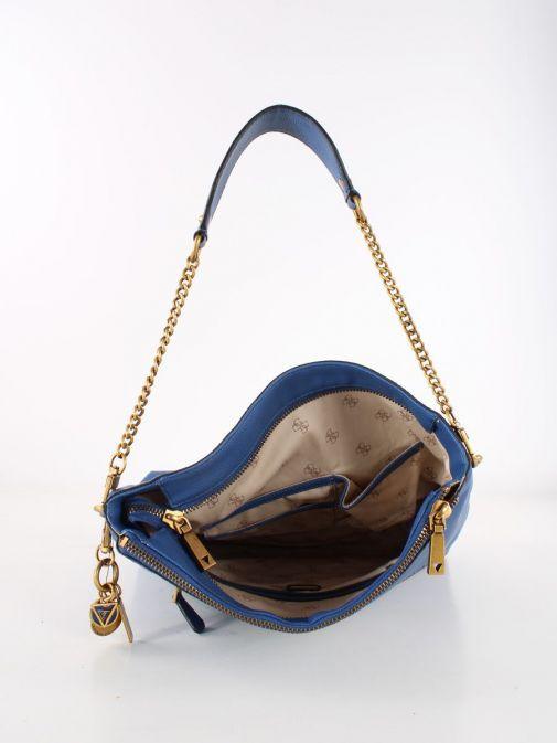 Inside shot of Guess Destiny Hobo Strap Shoulder Bag Blue