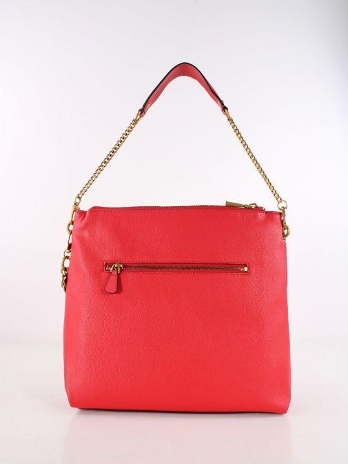 Back Shot of Guess Destiny Hobo Strap Shoulder Bag Red