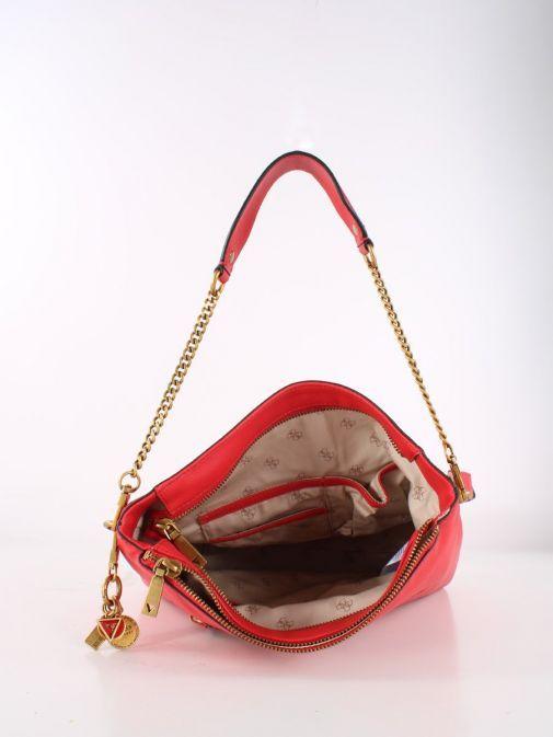 Inside Shot of Guess Destiny Hobo Strap Shoulder Bag Red