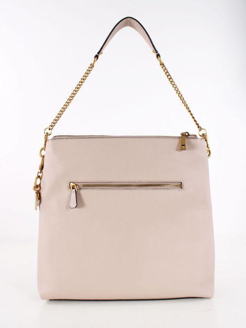 Back image of Guess Destiny Hobo Strap Shoulder Bag in Taupe