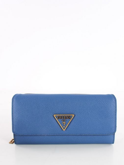 Front image of Guess Destiny Maxi Wallet in Blue