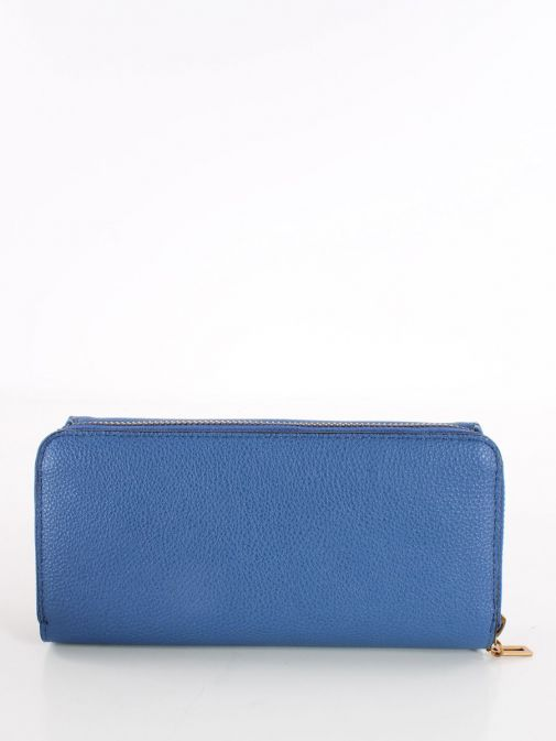 Back image of Guess Destiny Maxi Wallet in Blue