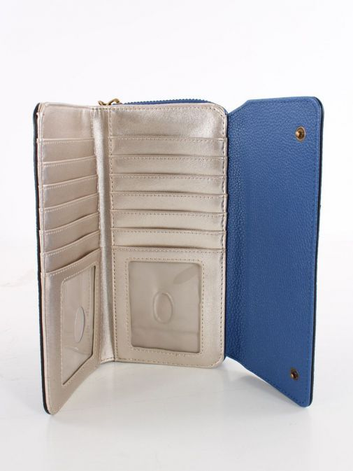 Inside image of Guess Destiny Maxi Wallet in Blue