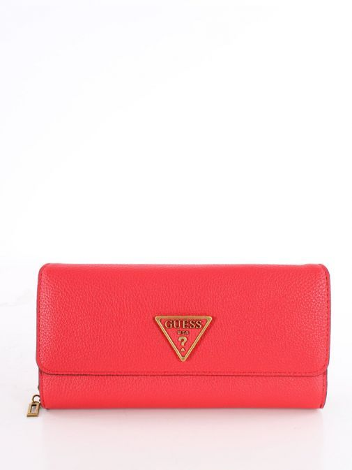 Front image of Guess Destiny Maxi Wallet in Red