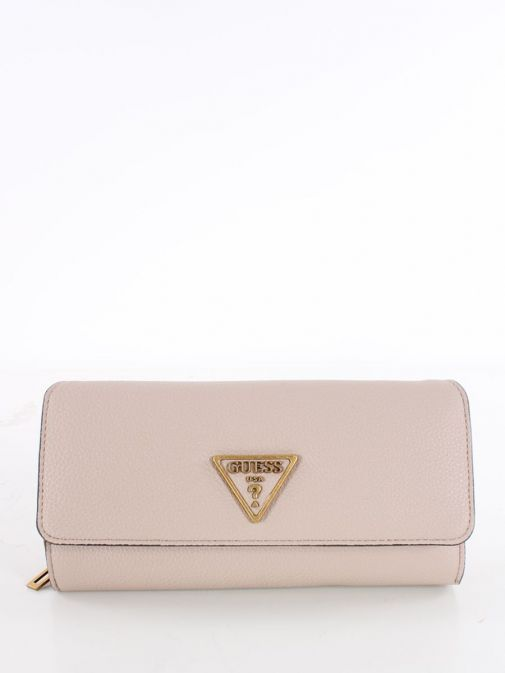 Front image of Guess Destiny Maxi Wallet in Taupe