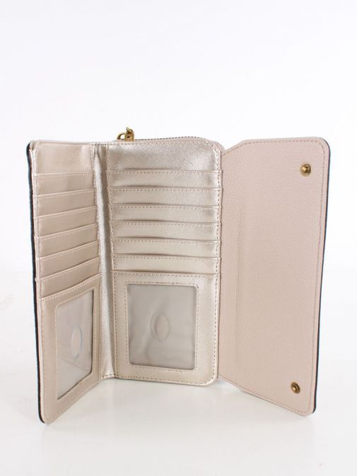 Inside image of Guess Destiny Maxi Wallet in Taupe