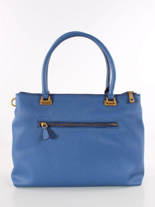 Back image of Guess Destiny Strap Shoulder Bag in Blue