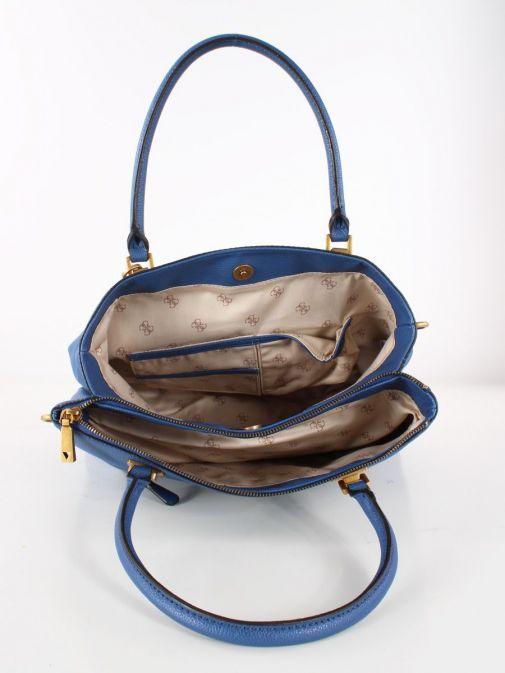 Image of inside of Guess Destiny Strap Shoulder Bag in Blue