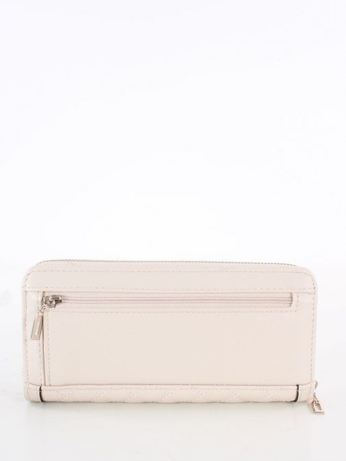 Back image of Guess Heyden Quilted Maxi Wallet in Stone