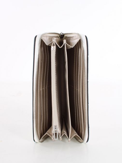 Inside image of Guess Liberty City Braided Maxi Wallet in White