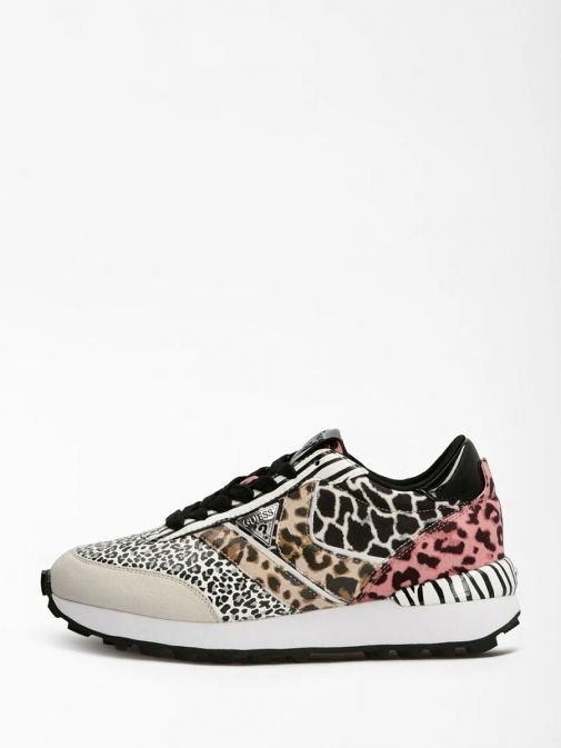 Side shot of Guess Samsin Animalier Running Shoe in Multi colour
