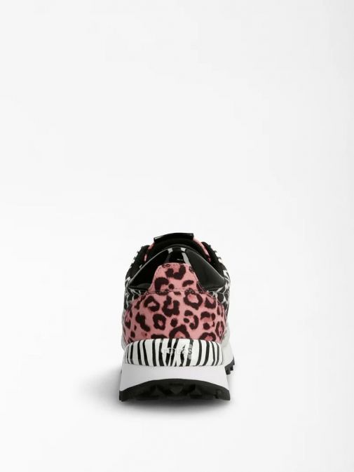 Shot of heel of Guess Samsin Animalier Running Shoe in Multi colour