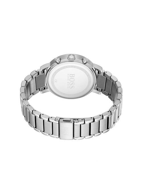 back shot of the Hugo Boss Contemporary Sport Watch with Silver strap