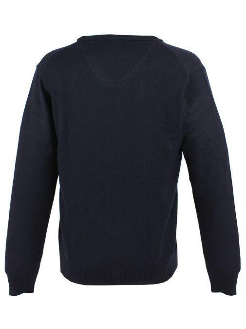 Dario Beltran Navy Knit V-Neck Jumper