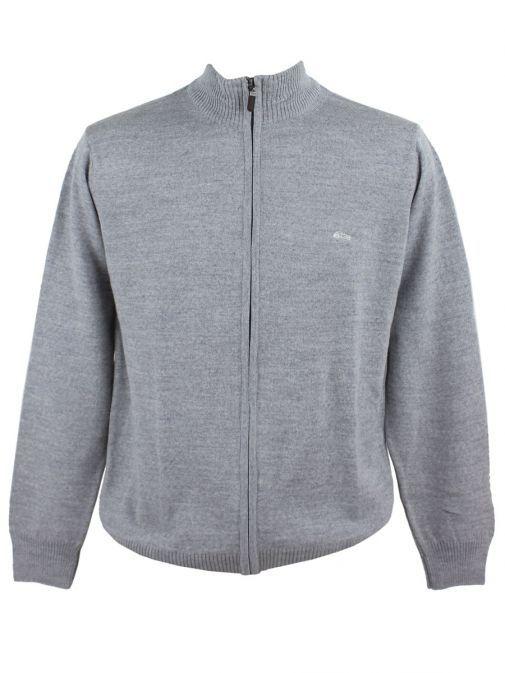 Dario Beltran Grey Lightweight Knit Zip-Up Jacket J05 5055J05 550