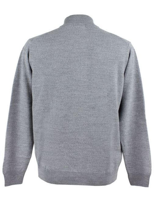 Dario Beltran Grey Lightweight Knit Zip-Up Jacket