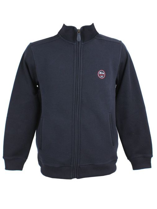 Dario Beltran Navy Rib Knit Zip-Up Jacket J05 5061J05 612