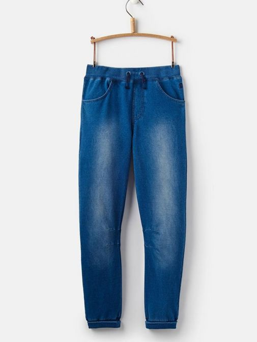 Front shot of Joules Bowen Jersey Joggers in Denim