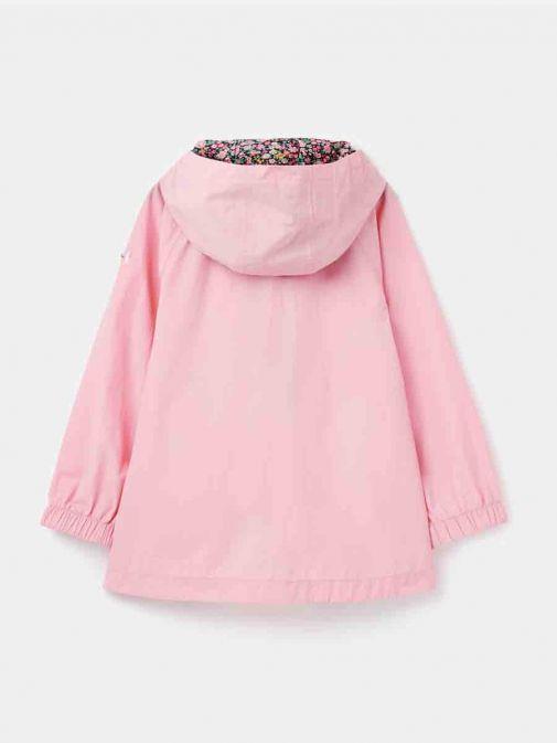 Image of  back of Joules Roseberry Waterproof Swing Rainmac in Pink