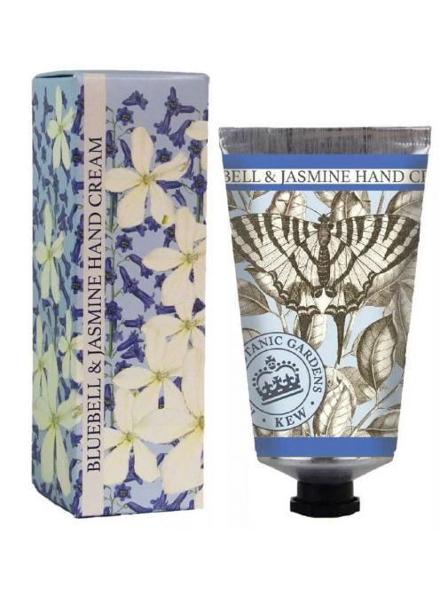 Front shot of the Kew Gardens Bluebell And Jasmine Hand Cream