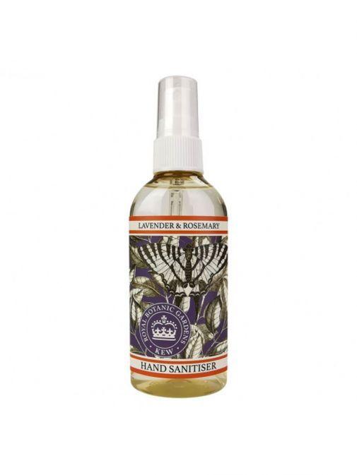 Image of bottle of Kew Gardens Lavender and Rosemary Hand Sanitiser