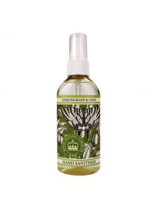Image of bottle of Kew Gardens Lemongrass and Lime Hand Sanitiser