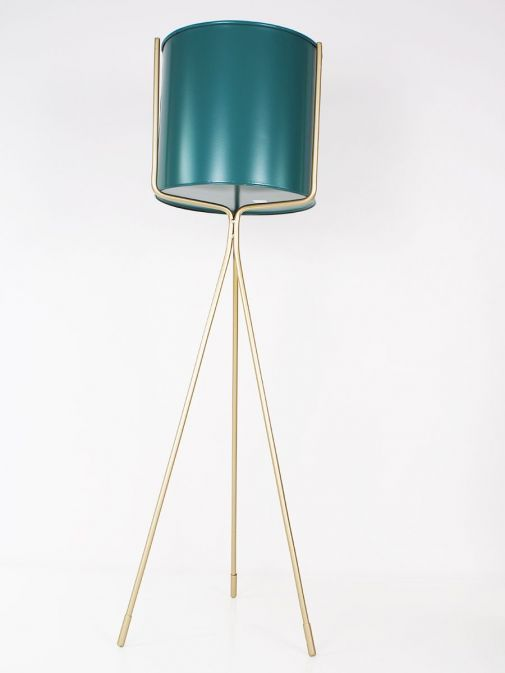 Front shot of the Large Planter Turquoise and Gold