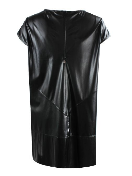 Mat Black Leather Style Dress
