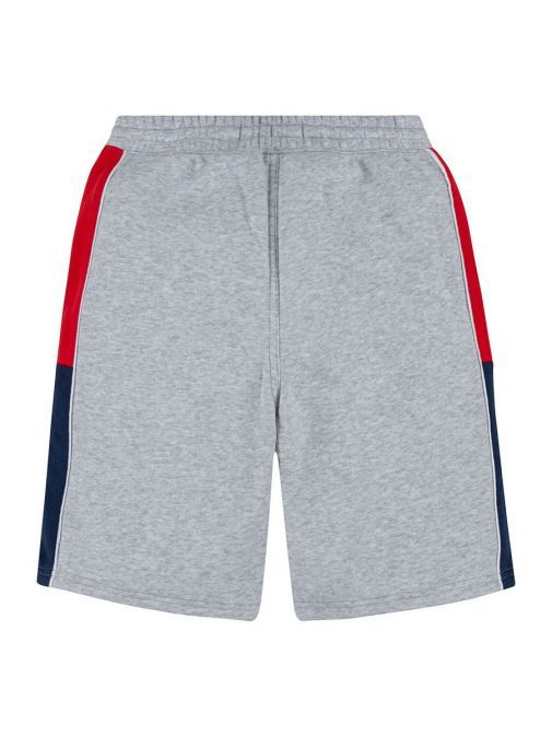 Back shot of the Levi's Kids Colour Block Shorts Grey featuring sporty colour block side panels, two side pockets, elasticated waistband