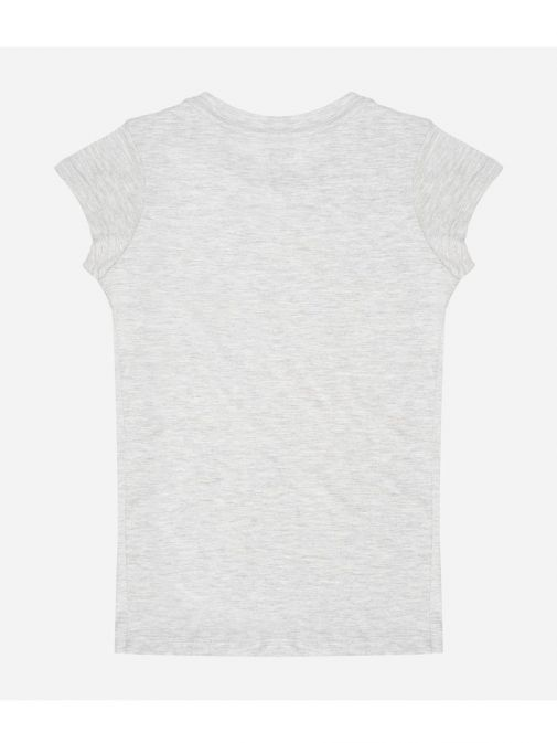back shot of the Levi's Kids Dark Red Batwing T-Shirt in the Grey featuring a rounded neckline, short sleeves