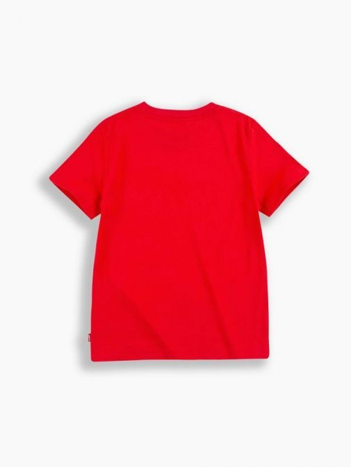 Front shot of Levi's Kids Graphic T-Shirt in the Red colour featuring rounded neckline and short sleeves