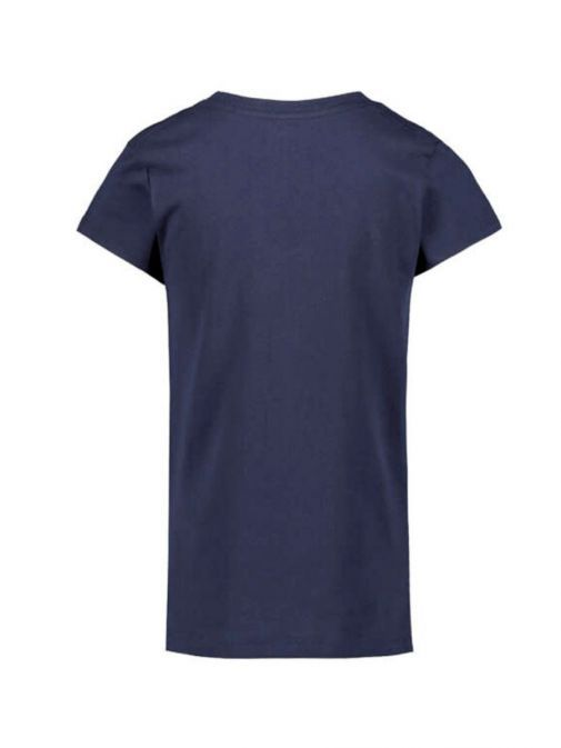 Front shot of the Levi's Kids Pink Batwing T-Shirt in the Navy colour featuring a rounded neckline, short sleeves