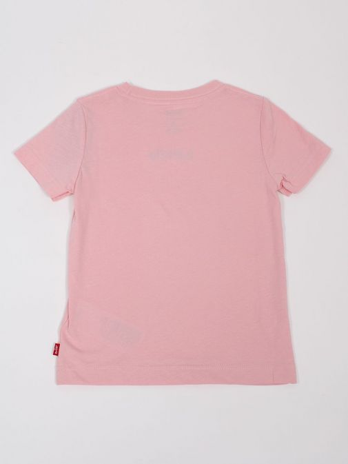 Front shot of the Levi's Teenager Graphic T-Shirt in the Pink colour featuring a rounded neckline, short sleeves