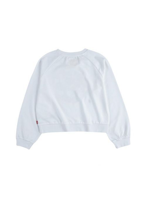 backl shot of the Levi's Teenager High Rise Sweatshirt in the White colour featuring a rounded neckline, long sleeve
