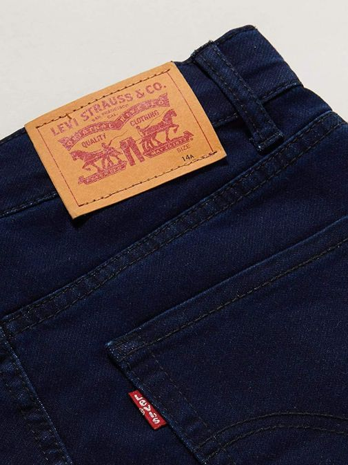 Close up shot of Levis Kids 510 Knit Jean in colour Dark Moon