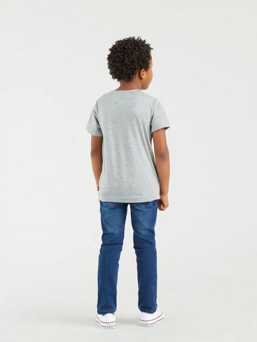 Shot from behind of child model wearing Levis Kids 510 Skinny Fit Jeans in colour Melbourne